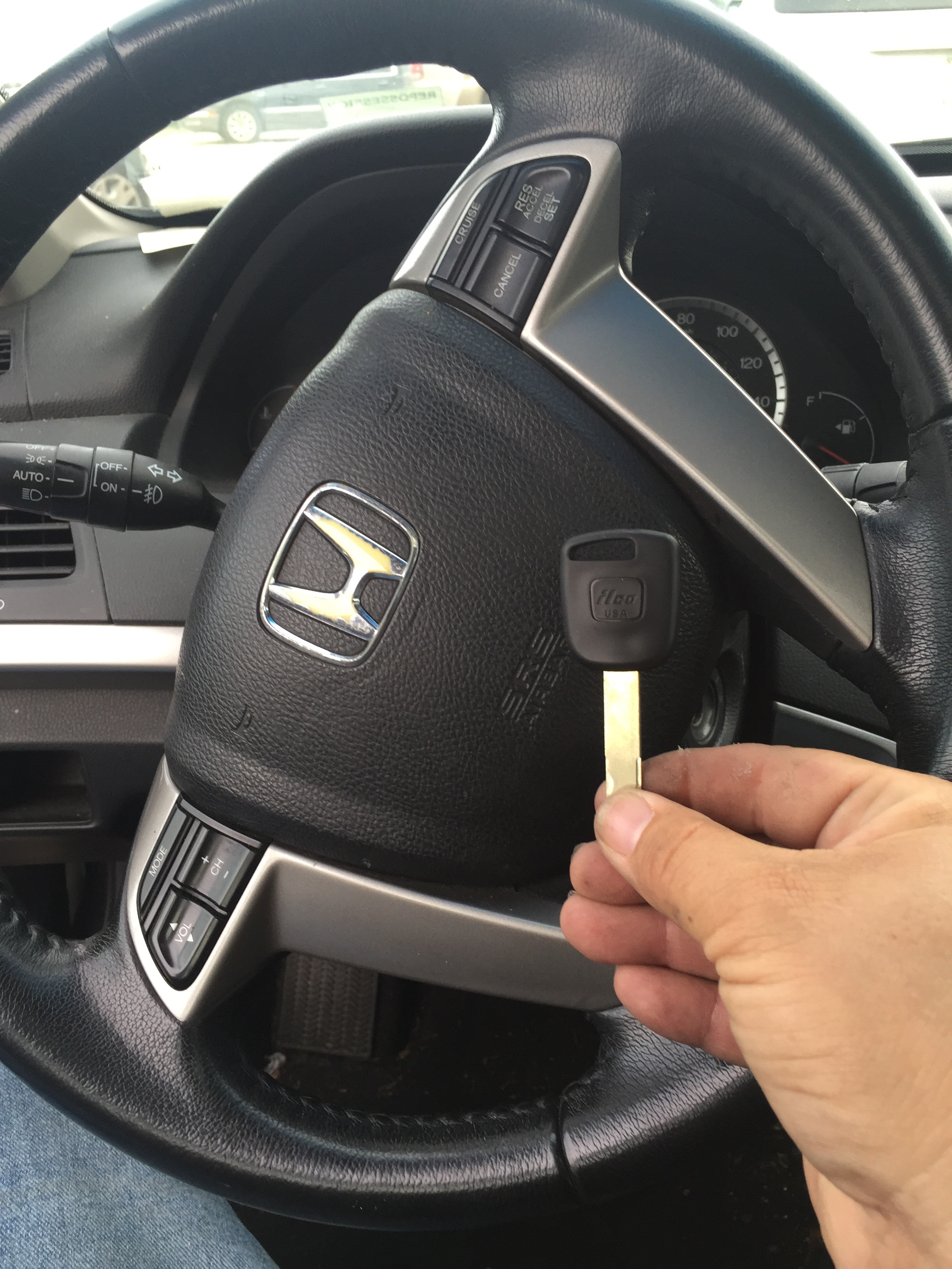 Lost Honda Accord Key